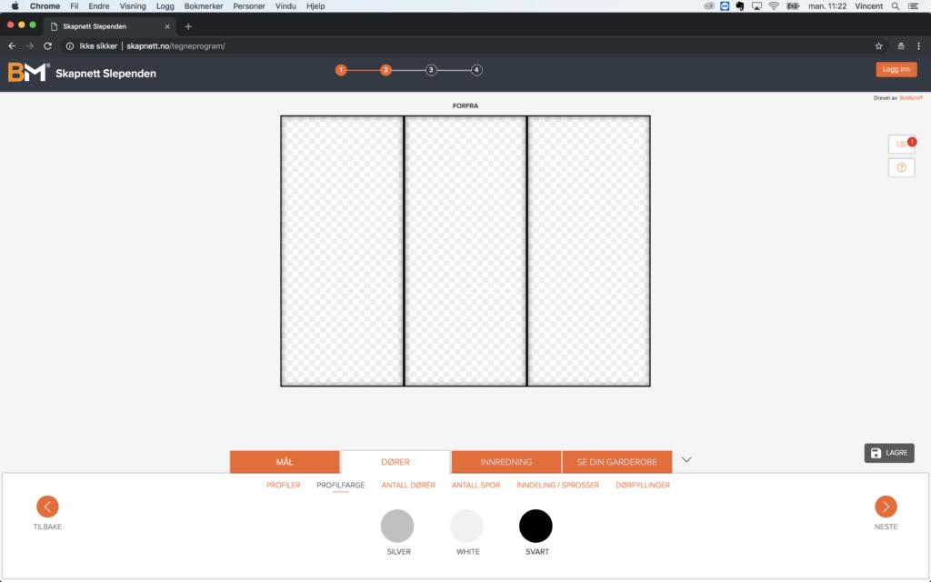 Garderobeskap - design din drøm Bilde: Tegneprogram 4