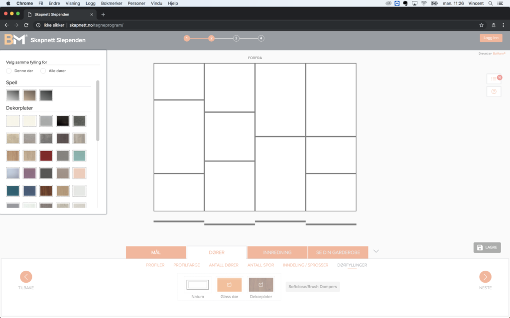 Garderobeskap - design din drøm Bilde: Tegneprogram 7